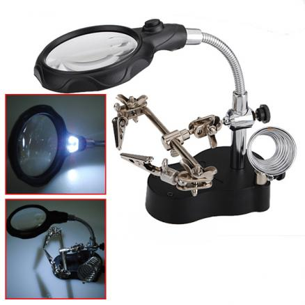 3.5X Third Helping Hand Clip Type Magnifying Glass