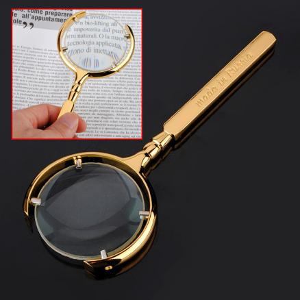70mm 5X Golden Reading Magnifying Optiacl Glass Magnifier