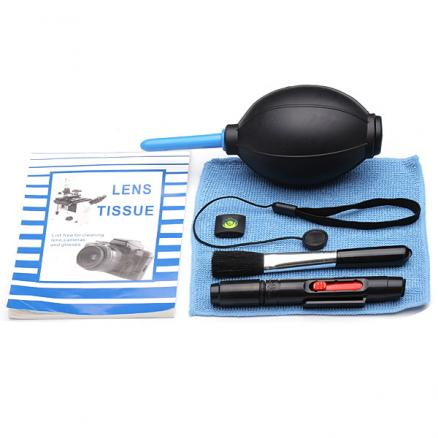 7 In 1 Camera Lens Cleaning Kit Hot Shoe Spirit Lens Cloth Brush Pen