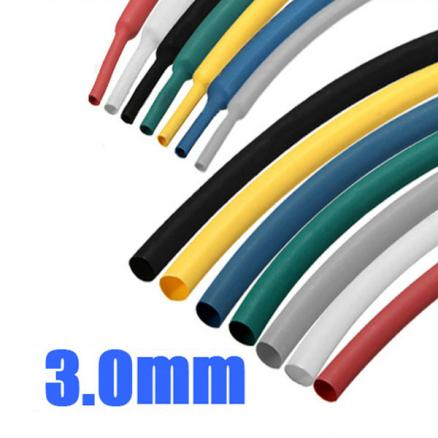 1/8 Inch 1M 3.0MM 7Color 2:1 Polyolefin Heat Shrink Tube Sleeving Wrap
