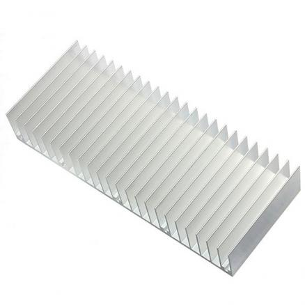 2Pcs 150x60x25mm Aluminum Heat Sink Heatsink Cooling