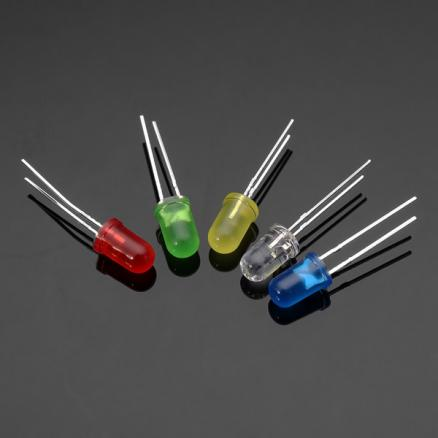 100Pcs 20Ma F5 5MM 5Colors Ultra Bright LED Diode