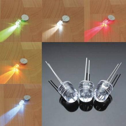 100Pcs F10 10MM 5 Colors LED Diode Red White Yellow Green Blue