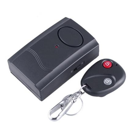 Wireless Remote Control Vibration Alarm for Door Window Items Security