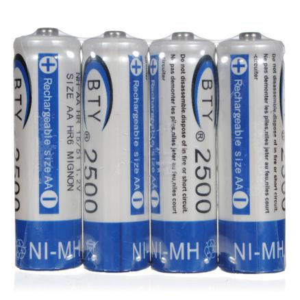 BTY AA 2500mAH NI-MH NIMH Battery High Capacity