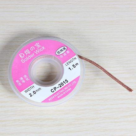 2.0mm 0.75m Desoldering Braid Solder Remover Wick Cable Wire