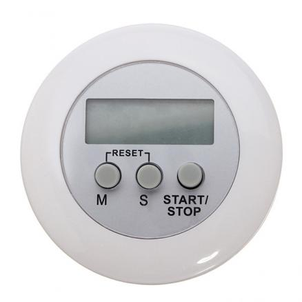 White Mini Magnetic Digital LCD Countdown Timer Alarm