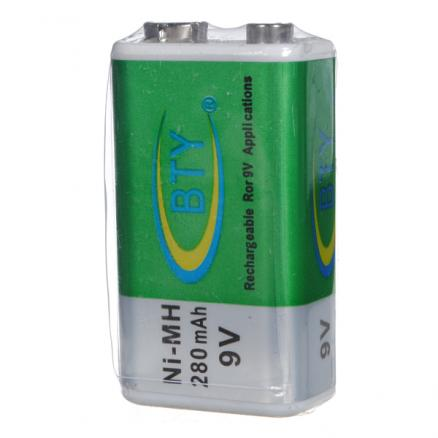 BTY 9V 280mAh Ni-MH paperback Rechargeable Battery