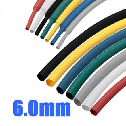 1/4 Inch 1M 6.0MM 2:1 Polyolefin Heat Shrink Tube Sleeving Wrap