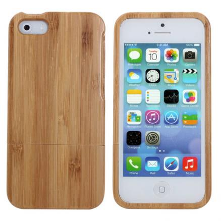 Bamboo Practical Back Protective Case Cover Skin for iPhone5 5S