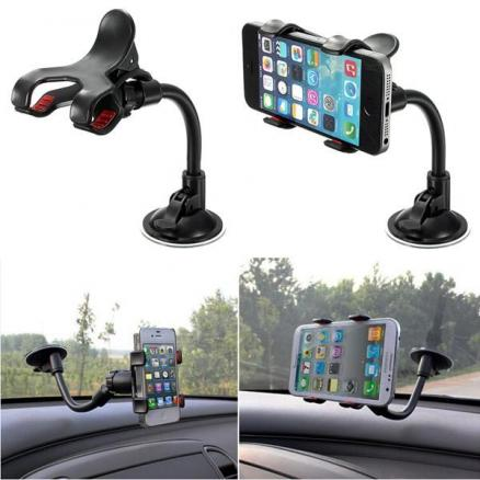 Universal 360 Adjustable Windshield Car Holder For iPhone 5 5S