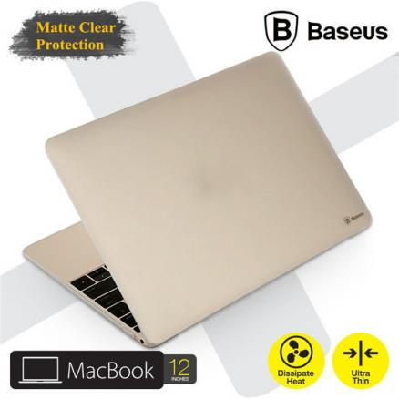 BASEUS Ultrathin Matte Frosted Transparent Clear Case Cover For Apple Macbook 12 inch