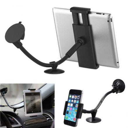 Universal 360°2in1 Car Windshield Mount Holder For iPad Tablet PC