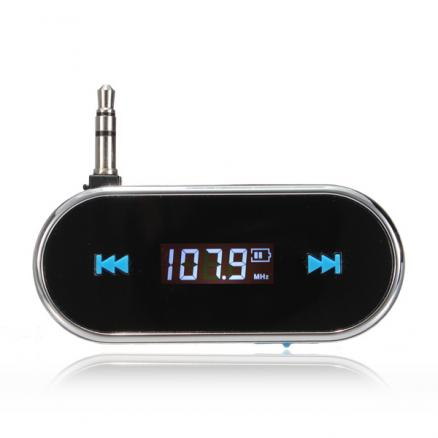 Wireless 3.5mm Handsfree LCD Display Fm Transmitter For iPhone iPod