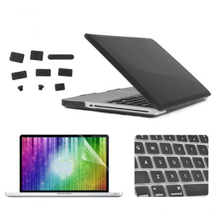 ENKAY Crystal Protective Shell Keyboard Cover Screen Film Anti Dust Plug Set For Macbook Pro 13.3""