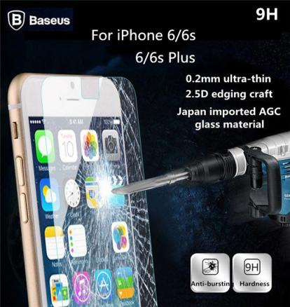 BASEUS 0.2mm Ultrathin Arc Edge Tempered Glass Screen Protector For Apple iPhone 6 6S 6Plus 6S Plus