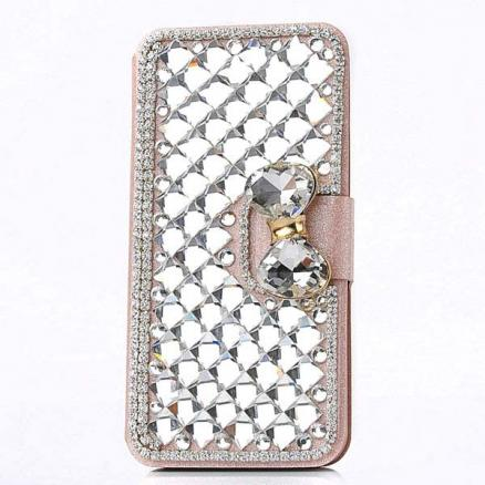 Crystal Scales Pattern PU Leather Protective Case For iPhone 5 5S