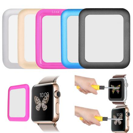 42mm Link Dream 0.2mm Metal Full-covered Tempered Glass Screen Protector Film For Apple Watch