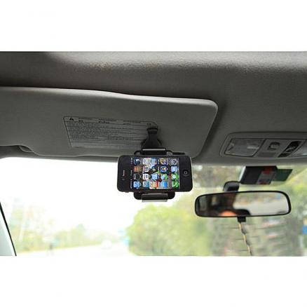 Portable Car Sun Visor Holder Mount Stand For iPhone Smartphone
