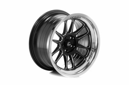 COSMIS XT-206R 18x11,0 5x114,3 ET8 Black+diamond lip+spoke milling