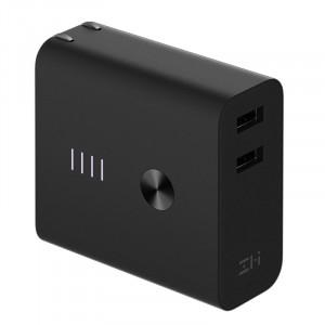 Сетевое зарядное устройство Xiaomi ZMI APB01 Dual USB Charger Mobile Power Bank 5200 mAh