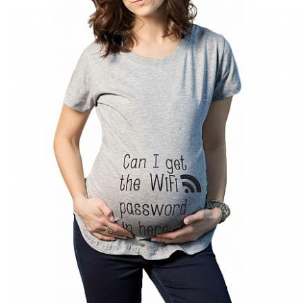 Maternity Letter Print Casual Tee (3753238)
