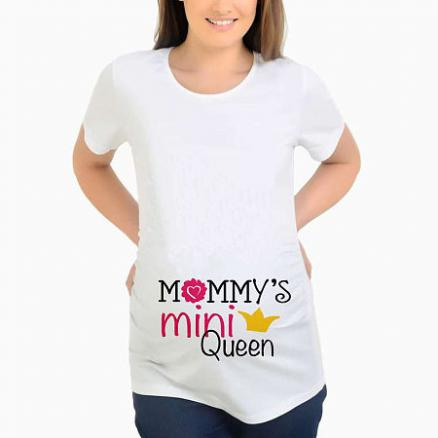 Maternity Slogon Print Round Neck Top (3898688)