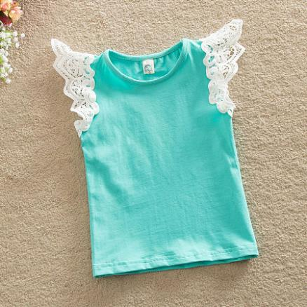 Cute Fly Sleeve Lace Tops (3419658)