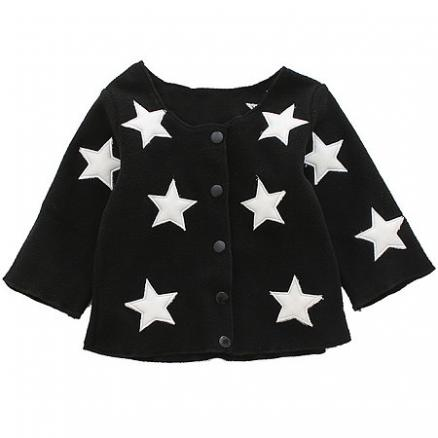 Star Pattern Long Sleeve Knitted Cardigan (3786697)