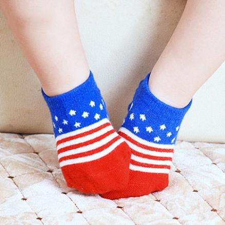 Flag Pattern Socks (4674820)