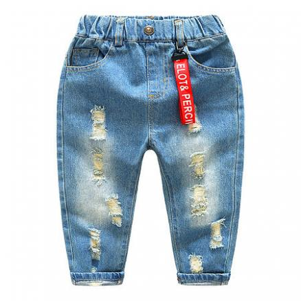 Letter Decorated Strap Jeans (4956128)