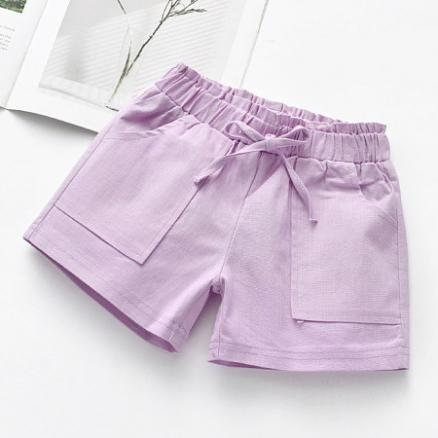 Solid Color Bowknot Decorated Shorts (4669377)