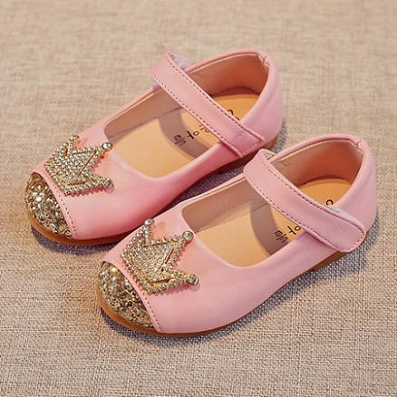 Rhinestone Decorated Crown Pattern Velcro Shoes (4495975)