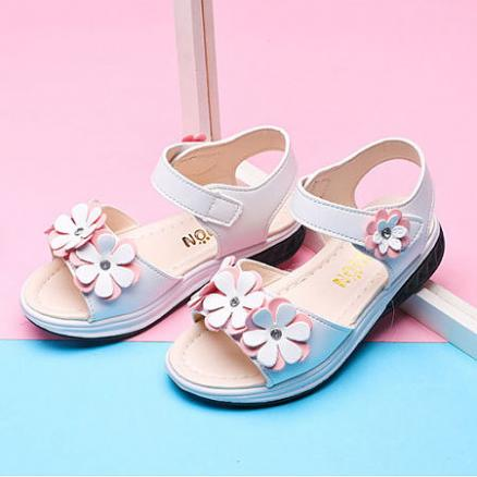Flower Decorated Velcro Shoes (4528109)