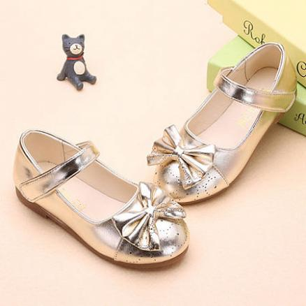 Solid Color Bowknot Decorated Velcro Shoes (4484814)