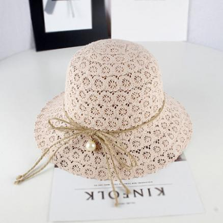 Bowknot Decorated Beads  Sunhat (4491960)
