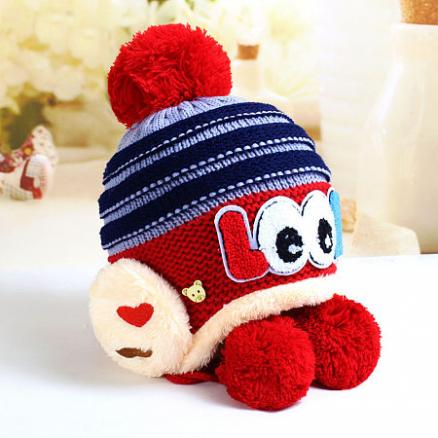 Big Eyes Pattern Thickened Knitted Cap (4000915)