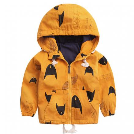 Cartoon Prints Zipper Hooded Jackets (4977360)