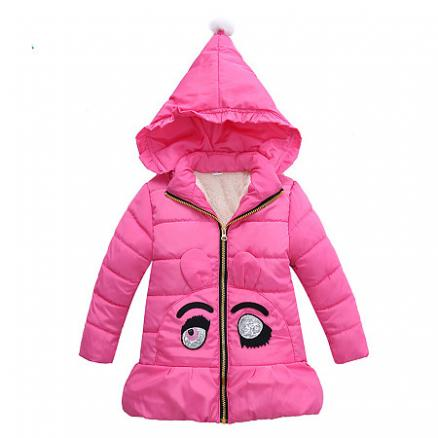 Cartoon Eyes Pattern Hooded Outerwear (3981257)