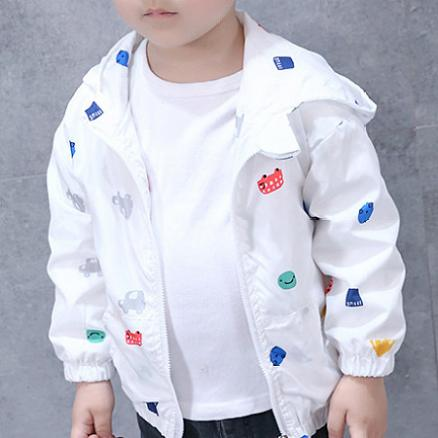Cartoon Cars Prints Hooded Jacket (4975015)