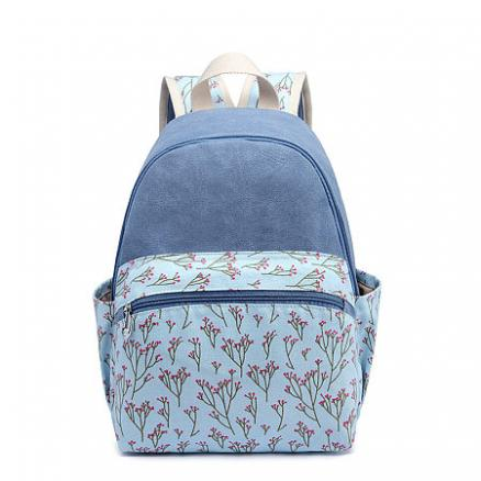 Flower Prints Zipper Backpack (4856432)