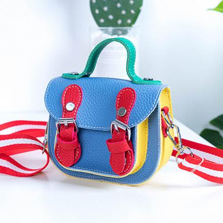 Color Block Buckle Crossbody Bag (4865520)