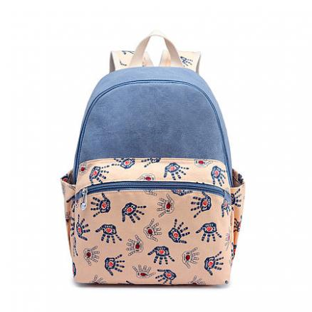 Cartoon Palm Prints Backpack (4856436)