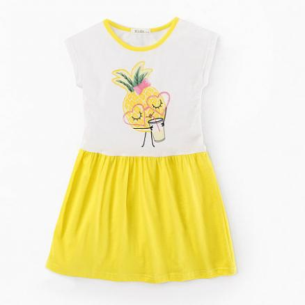 Pineapple Print Girls Summer Dress (3560533)
