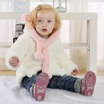 Winter Plain Floss Thicken Princess Keep Warm  Coat (5601189)