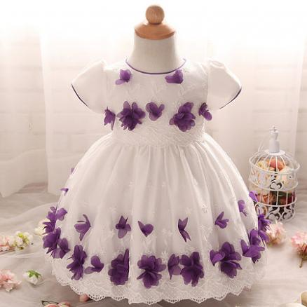 Flowers Applique Princess Dress (3887059)
