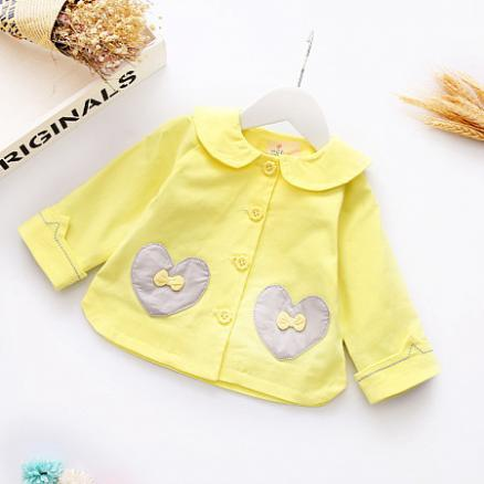 Colorful Doll Collar Bowknot Outerwear (3722970)