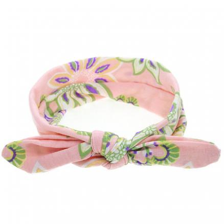 Floral Print Bowknot Hairband (3425217)