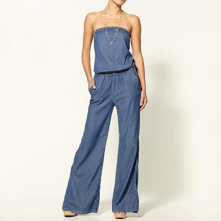 Tube Thin Jeans Jumpsuit (4662047)
