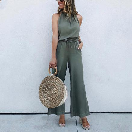 Sleeveless Breathable Sexy Jumpsuit (4662789)